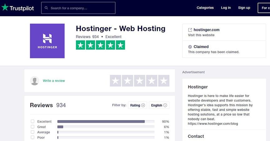 hostinger-trustpilot
